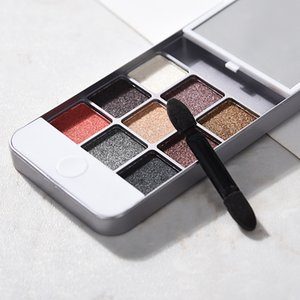 9 ألوان ظلال ماكياج لوحة البلاستيك حالة الهاتف لمدة 5 زلة حالة ؤلؤة عينيه ماتي لوحة