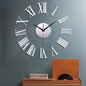 Home Acrylic Clock Frameless DIY Wall Mute Clock 3D Mirror Surface Sticker Home Office Decor DIY New Wall living room