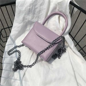 MINI Box Design PU Leather Crossbody Bags For Women New Summer Shoulder Hand Bag Travel Chain Handbags Solid Color