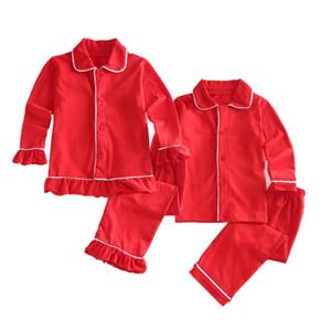 conjuntos de algodón de otoño niña niños chicos ropa de noche de navidad niños Homewear de pijamas de niño pijamas ropa de dormir de los niños pijama 12m-8Y