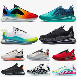 Nike Air Max 720 818 Nike 720 Mulheres Homens Running Shoes MX 720-818 AirMaxAIRMAXSapatos Be True Mar Floresta Worldwide Preto Trainers Sneaker