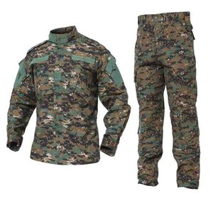 Army Tactical Uniform Shirt + Pants Camo Camouflage Combat Uniform US Army Men's Clothing Suit Hunt