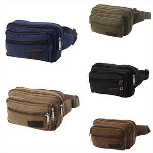 THINKTHENDO Fashion Durable Men Fanny Waist Pack Belt Hip Bum Bag Pouch Three Zipper Pockets Four Zipper Pockets