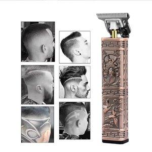 Portable sans fil Tondeuse professionnelle tondeuse à cheveux pour hommes Barbe Haircut machine Cutter Barber bord tête nue Pivot Motor