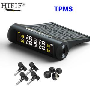 Solar TPMS Car Tire Pressure Alarm Monitor System 4 Wheel Internal External Tyre Sensor Temperature Alert D02W D02N D01W Visture