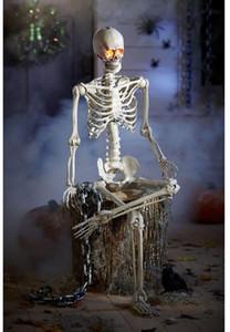 Prextex 5 أقدام هالوين Skeleton- كامل للجسم هالوين الهيكل العظمي مع المنقول الموصل أفضل هالوين الديكور