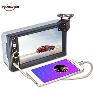 Стерео FM радио MP4 MP5 Audio USB TF Автоэлектроника 6,6 '' HD сенсорный экран 2 Din Car Video Player Bluetooth В тире