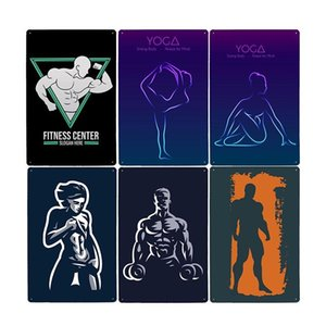 Plaque Poster Wall Bar Metal Pub Decorative Vintage Gym 20x30cm Sign Exercise Decor Tin Plate Sport Fitness Home fGcpD packing2010