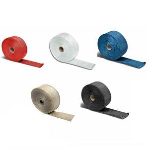 Carro Escudo Escapamentos Cachimbo Bandage térmica Enrole isolamento de algodão Collectors Tape escape Tape Manifolds 5m carro de isolamento