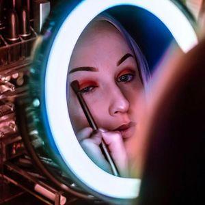 Trucco leggero ingrandimento 10X LED Specchio Bagno Vanità Viaggi specchio, potente ventosa trucco LED regolabile specchio