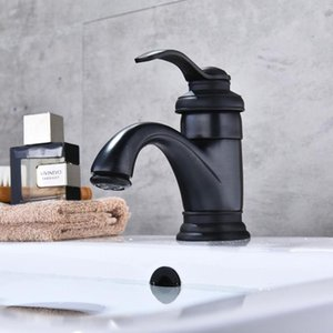 Vidric Basin Faucet Antique Brass Bathroom Sink Faucets Single Handle Deck Mounted Bath Wash Hot Cold Mixer Water Tap WC Taps