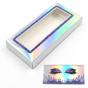 Laser Eyelash Package Boxes butterfly Printing False Eyelashes Packaging Rectangular Empty Eyelash Box Case Lashes Box Packaging RRA3615