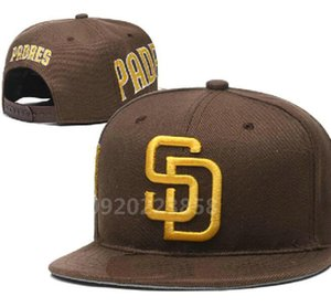 Top Quality Cheap Snapback Padres Cap SD classic bone Baseball Cap Embroidered Team Size Fans Flat&Curved Brim for Adult hat cap a7
