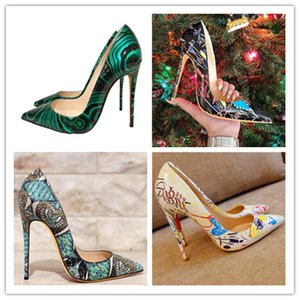 Multicolor Women Shoes Italy Luxury High Heels Party Dress Designer shoes Newest Fashion Spring Autumn Pointed Party Banquet Shoes