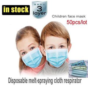Wholesale Student Kids Mask Disposable Protective Mask to Safety Masks Dustproof Children Face Masks Child Prevention Masks