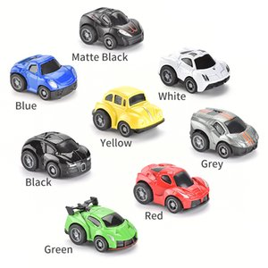 48PCS Set Cute Mini Diecast Car Alloy Pull Back Vehicles Model Toy Metal Lovely Colorful Car Toys Alloy Car For Kids Gift Play