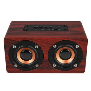 top selling product in 2020 10W Output Retro Wood Wireless Bluetooth Speaker Mini 3D Dual Loudspeakers USB Support Dropshipping