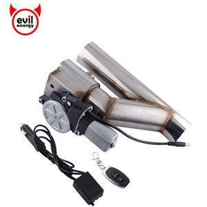 """evil energy Universal 2"""" Stainless Steel Headers Y Pipe Electric Exhaust Wireless Remote Control Cutout"""