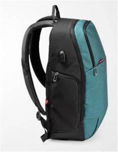 Vendita calda di tela di marca Zaini esterni di qualità USB Charge Laptop Backpack antifurto Notebook Bag Computer 15.6 Pollici per uomini d'affari