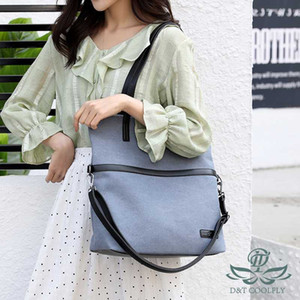DT 2020 nuova di modo Canvas Shoulder Bag Donne variopinta impermeabile 16'Inch portatile di lusso Zipper Morbido Solid multifunzione Bag