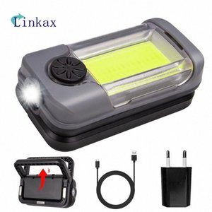 LED COB Work Light USB Charging Magnet 180 Degree Rotary Bracket For Outdoor Camping Emergency Lamp Powerbank khL9#