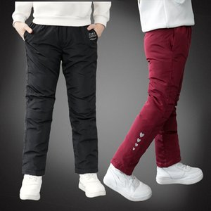 New Winter Boys Down Cotton Warm Trousers Baby Waterproof Snow Pants Children 2-12T Clothes For Girls legging Trousers MX200811