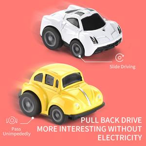 48PCS / Set linda Tire Mini coche fundido a troquel de la aleación Volver vehículos del juguete de metal precioso colorido juega el coche de aleación de coche para niños y regalo BUENO