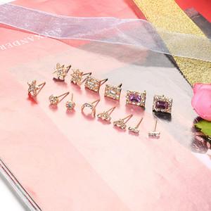 Star Square Infinite Symbol Stud серьги 2020 Новый горный хрусталь серьги перлы для женщин подарка