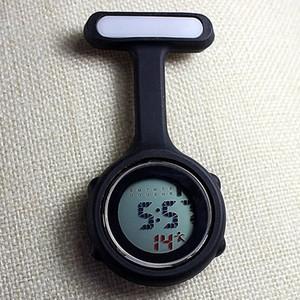 New Digital Watch Fashion Silicone Watches Lapel Brooch Pocket Watch@88