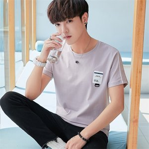 Men's short sleeve T-shirt new ice han edition tide silk cotton round collar T-shirt male jacket half sleeve clothes in summer 0924