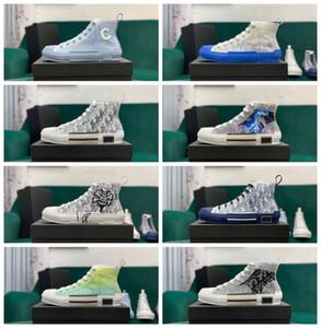 Dior B23 Shoes 2020 Schuhe B2 High High Sneakers Oblique Blumen Technische Plattform-Schuh-Fashion Outdoor-Turnschuhe luxe Freizeitschuhe