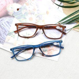 Стильный прямоугольный Reading Glasses, весна Шарнир, мужской и женские Читательские очки, диоптрии 0,5 1,75 2,0 3,0 4,0 ... Ширина линзы