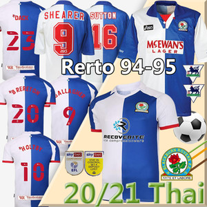 2020 2021 NOUVEAU Blackburn Retro jersey de football 1994 95 Rovers Accueil Gallagher HOLTBY Retro Rovers Shearer Sutton RIPLEY Football Maillots Shirt