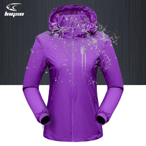Jaqueta impermeável lngxo mulheres caminhadas camping casaco de chuva mulheres outdoor softshell windbreaker goretex caça roupas