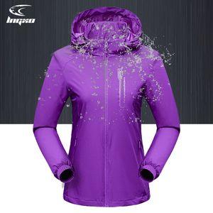LNGXO Wasserdichte Jacke Frauen Wandern Camping Rain Jacket Frauen Outdoor Softshell Windjacke Goretex Jagd Kleidung