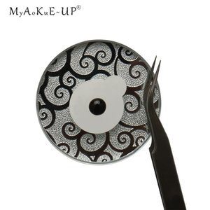 Glass Glue Holder Glue Pads Round Pallet For Eyelashes Extension Makeup Tool Grafting Lashes