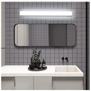 Pared accesorio de la lámpara del aplique de pared de acrílico Montada del espejo del LED de luz blanca de dormitorio accesorios de baño Vanidad de la lámpara de 12W 18W 24W Moderno