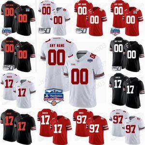 Personalizado OSU Ohio State Buckeyes costurado qualquer nome Quaisquer crianças Número homens mulheres jovens 7 Dwayne Haskins Jr. College Basketball Jersey