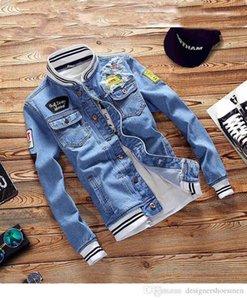 Jacken Mode Langarm-Oberbekleidung Street Style Printed Lässige Kleidung Kleid der Männer LuxuxMens Patch-Design Herbst Jean