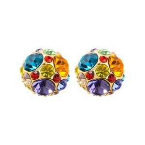 Hot Sale Sell like hot cakes with international brands of paragraph seven color girl heart diamond stud earrings