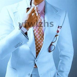 Popular Two Buttons Groomsmen Notch Lapel Groom Tuxedos Men Suits Wedding Prom Best Man Blazer ( Jacket+Pantst+Tie) Y171