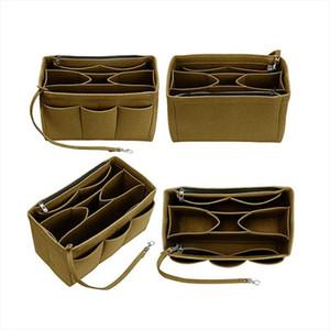 Felt Bag Makeup Organizer Felt Cloth Insert Bag For Handbag Fit Speedy Multifunctional Travel Cosmetic Bags