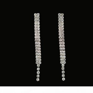 K Minlover Crystal Teardrop Wedding Rhinetone Choker Necklace And Earrings Bridal Jewelry Sets For Women