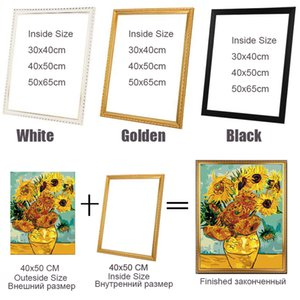 Good Outter frame for diy canvas oil painting by numbers wood frame wall Diamond painting embroidery picture Photo