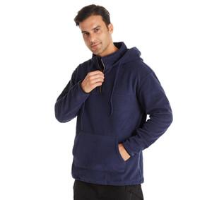 Hot Sale Latest Quality Custom Fashion Polar Fleece Mens Fur Faux Pure Color Hoodie And33