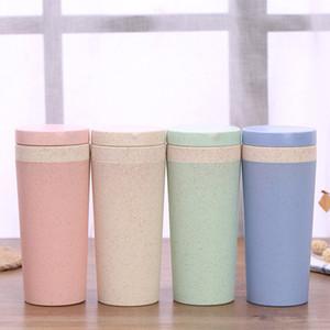 Nuovi 300ml di alta qualità 10 once bottiglia paglia di grano Eco Coffee Mug Cup biodegradabile BPA plastica paglia di grano Acqua
