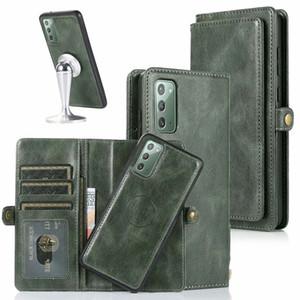 A91 Schlag-Abdeckung für Samsung Galaxy Note 20 S20 Ultra-A41 A21 A20 A40 A50 A51 A70 A71 Fall Retro-Leder-Mappe 2in1 Abnehmbarer Shell