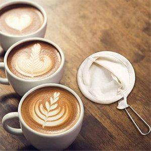 Filtro 4pcs reutilizável Saco de café de aço inoxidável punho de flanela pano Filtro Dropping Pot malha Coffee Ferramentas Filtro
