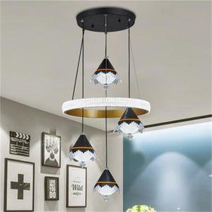 Nordic ferro battuto LED sala da pranzo lampadario stanza illumina la casa del soffitto di aspirazione appesi Lampade a sospensione telecomando a duplice uso