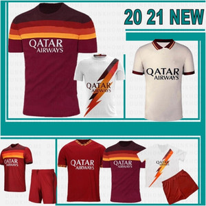 20 21 AS Roma Fußball-Trikots KOLAROV 2020 2021 TOTTI Maglia Da Calcio DZEKO Fußball-Hemd DE ROSSI Herren Kinder Kit Uniformen Hot Verkauf